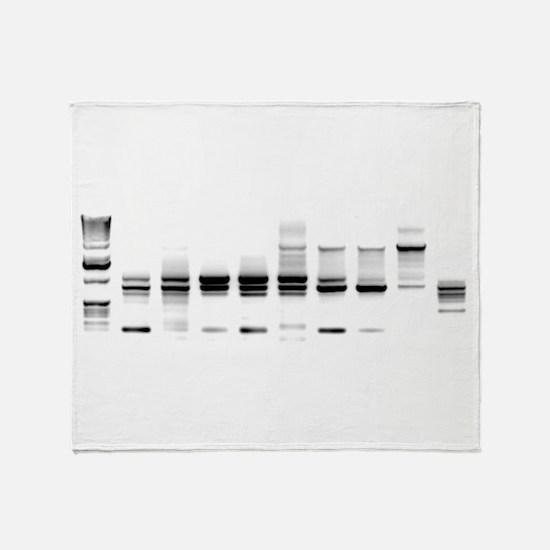 DNA Gel B/W Throw Blanket
