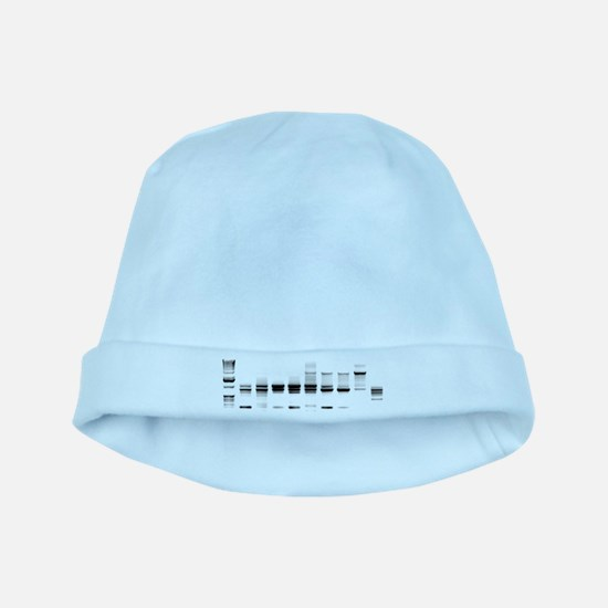 DNA Gel B/W baby hat