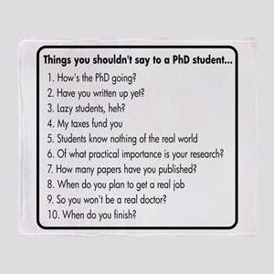 Don't Ask a PhD Throw Blanket