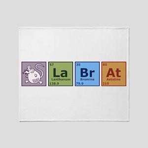 Periodic Lab Rat Throw Blanket