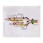 DNA Synthesis Throw Blanket