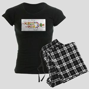 DNA Synthesis Women's Dark Pajamas