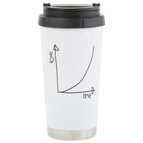 Love Graph Stainless Steel Travel Mug