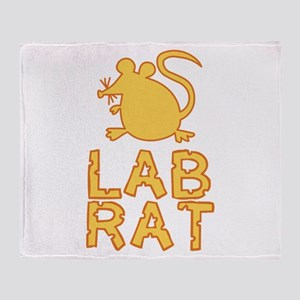 Cheese Lab Rat Throw Blanket
