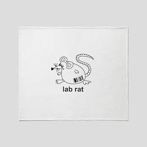 Lab Rat Throw Blanket