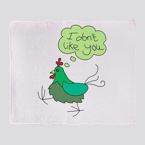 Angry Chicken Throw Blanket