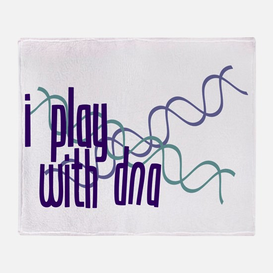 I Play with DNA Throw Blanket