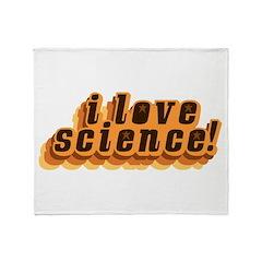 Love Science Retro Throw Blanket