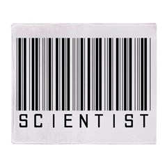 Barcode Science Geek Throw Blanket
