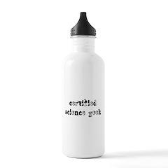 Certified Science Geek Water Bottle