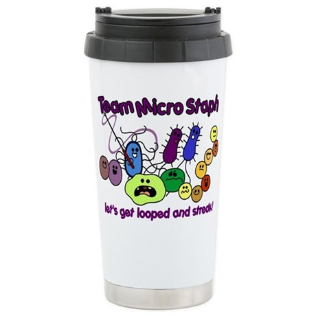 I Love Bacteria Stainless Steel Travel Mug