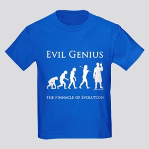 Pinnacle of evolution evil genius Kids Dark T-Shir