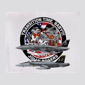 F-14 Jolly Rogers Throw Blanket