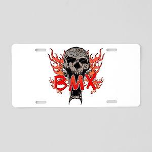 BMX skull 2 Aluminum License Plate