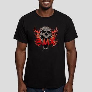 BMX skull 2 Men's Fitted T-Shirt (dark)