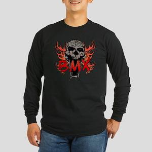 BMX skull 2 Long Sleeve Dark T-Shirt