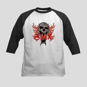 BMX skull 2 Kids Baseball Jersey