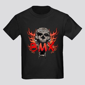 BMX skull 2 Kids Dark T-Shirt