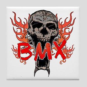 BMX skull 2 Tile Coaster