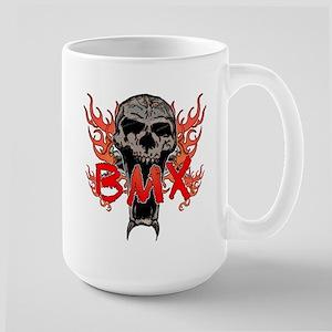 BMX skull 2 Large Mug