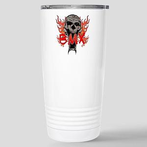 BMX skull 2 Stainless Steel Travel Mug