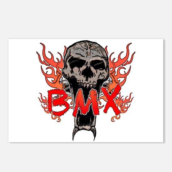 BMX skull 2 Postcards (Package of 8)