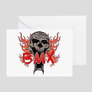 BMX skull 2 Greeting Card