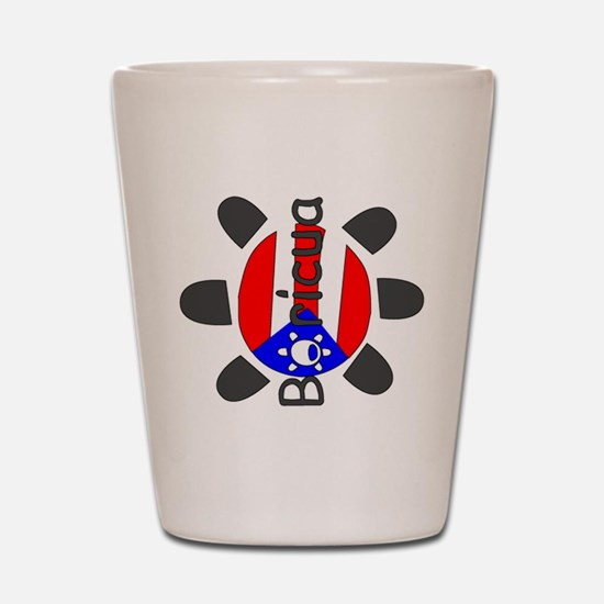 Boricua Taino Symbol Shot Glass