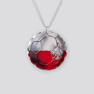 Poland Football Necklace Circle Charm