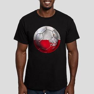 Poland Football Men's Fitted T-Shirt (dark)