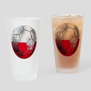 Poland Football Drinking Glass