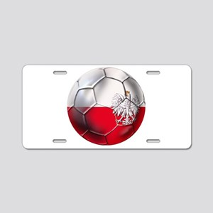 Poland Football Aluminum License Plate
