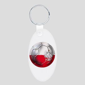 Poland Football Aluminum Oval Keychain