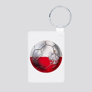 Poland Football Aluminum Photo Keychain
