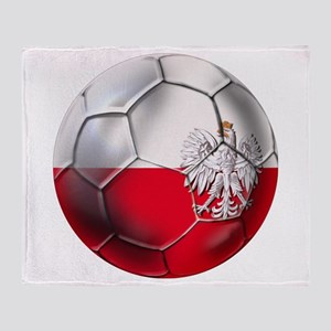Poland Football Throw Blanket