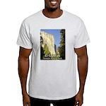 Yosemite's El Capitan t-shirt--ash grey