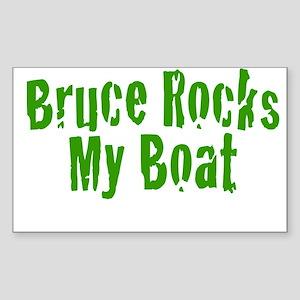 Bruce Rocks My Boat Sticker (Rectangle)