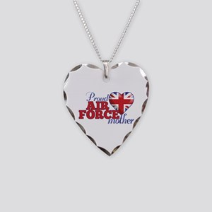 Proud Air Force Mother - Necklace Heart Charm
