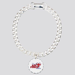 Proud Air Force Mother - Charm Bracelet, One Charm