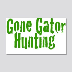 Gone Gator Hunting 22x14 Wall Peel