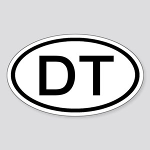 DT - Initial Oval Oval Sticker