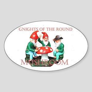 Gnome Gnights Oval Sticker