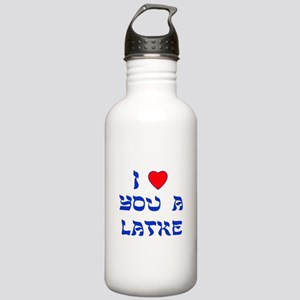 I Love You a Latke Stainless Water Bottle 1.0L