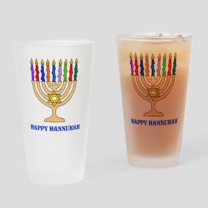 Hannukah Menorah Drinking Glass