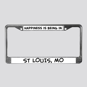 Happiness is St. Louis License Plate Frame