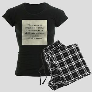 Viktor Frankl quote Women's Dark Pajamas