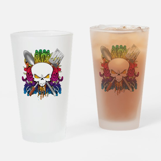 Chef Skull Drinking Glass