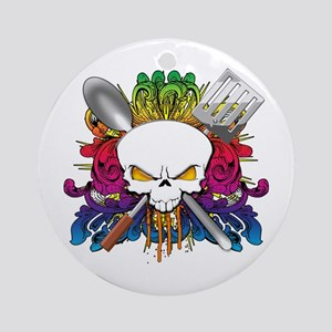 Chef Skull Ornament (Round)