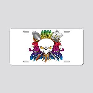 Chef Skull Aluminum License Plate