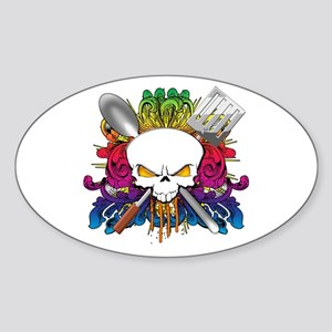 Chef Skull Sticker (Oval)